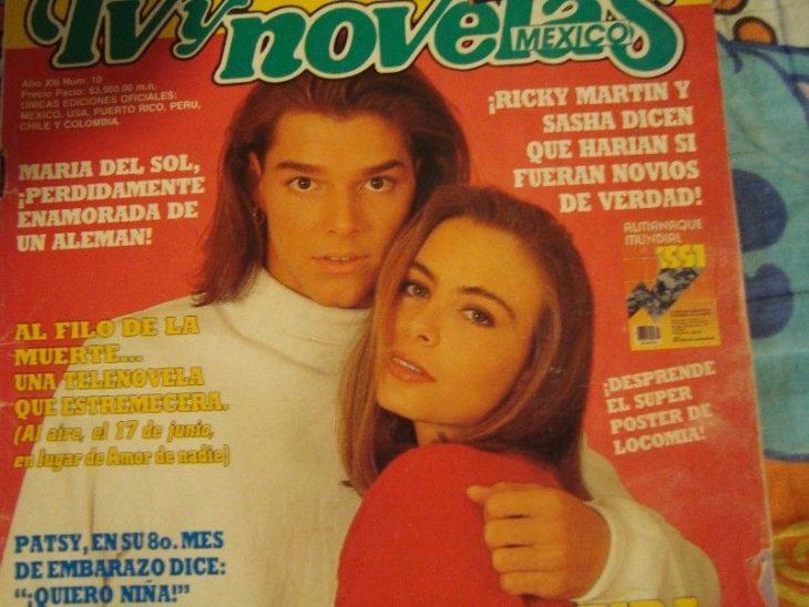 tvynovelas revista sasha ricky martin 90s mexico