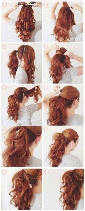 cola de caballo atla tutorial de peinado rapido
