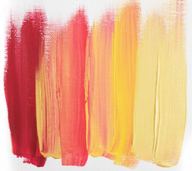 paleta de colores tonos calidos pintura acrilico