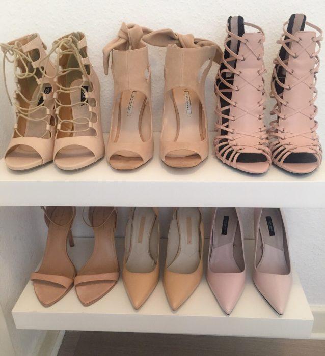 obsesiva del color piel neutro zapatos nude
