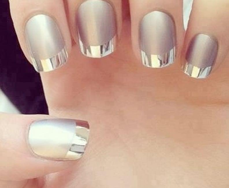 manicura de uas color plata espiritual