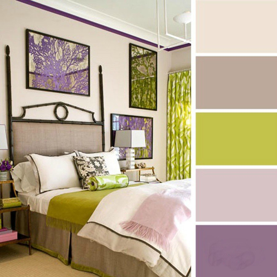 15 ideas de combinaciones de colores para tu dormitorio - Dormitorio verde ...