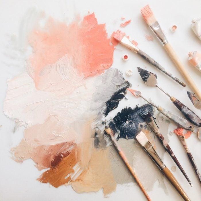 obsesiva del color colores cálidos paleta de colores arte