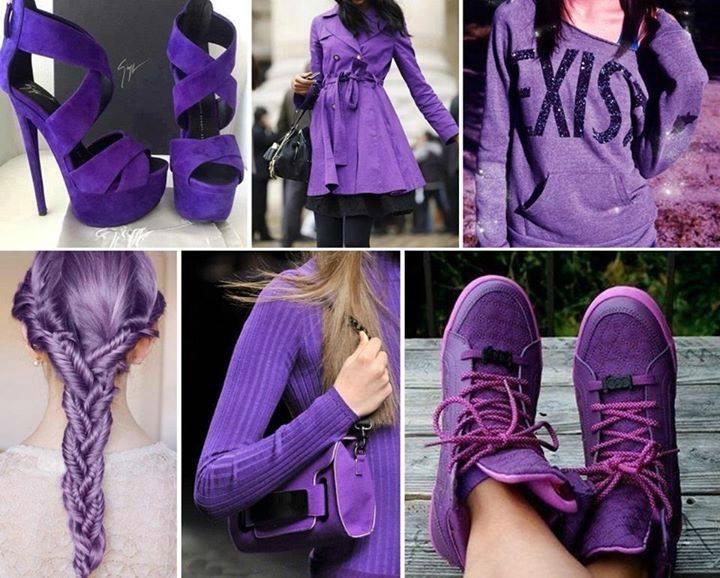 obsesiva del color purpura tenis cabello zapatos ropa morada