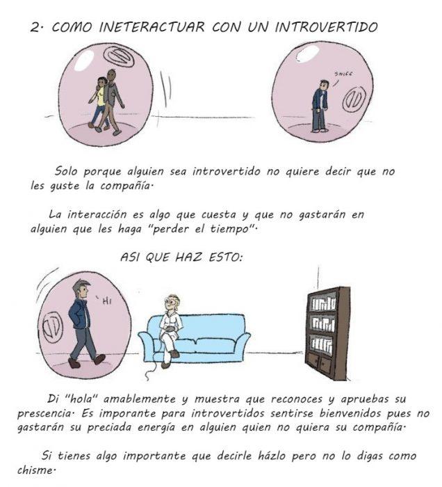 ilustracion guia para entender a los introvertidos parte 3