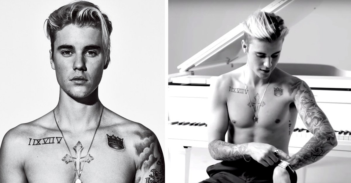 Justin Bieber revela el significado de sus tatuajes