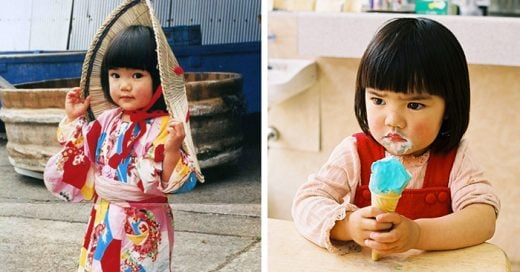 el fotógrafo Kotori Kawashima captó las aventuras de una pequeña de 4 años de edad después de pasar tiempo con la hija de un amigo en un pueblo rural de japón