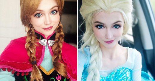 Esta chica ha gastado más de 14 mil dólares en pelucas y trajes hechos a la medida para caracterizarse al menos como nueve princesas