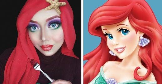 Esta mujer usa hijab para dar vida a las princesas de Disney