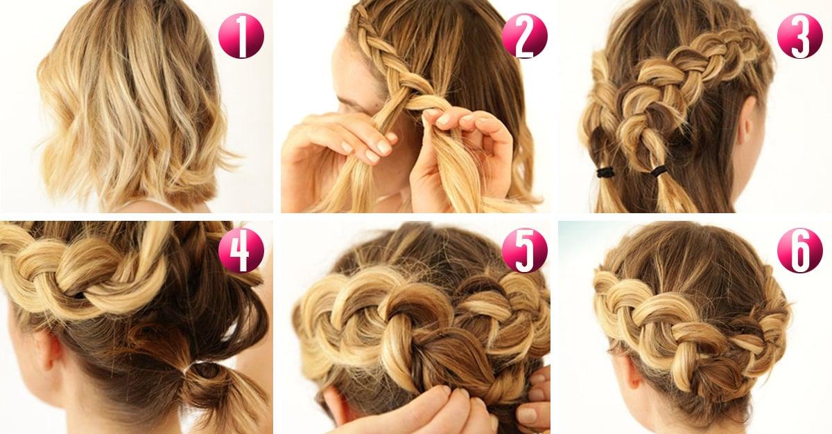 10 tutoriales de peinado para cabello corto - Como hacer peinado para boda ...