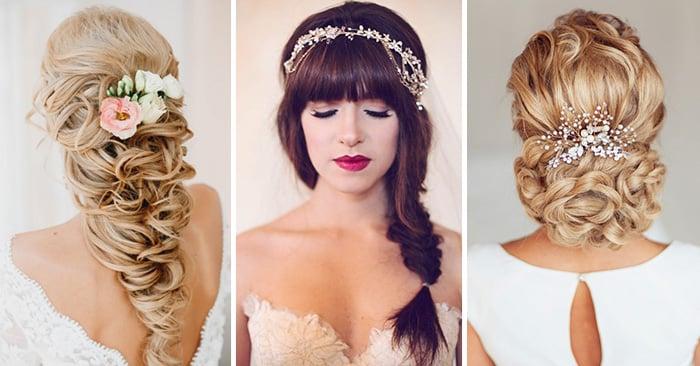 25 Hermosos Peinados Para El Dia De Tu Boda Te Encantaran - Adornos-de-novia-para-el-cabello