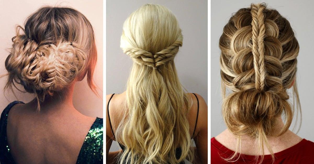 15 tutoriales para cabello largo de peinados para fiestas - Peinados fiesta faciles ...
