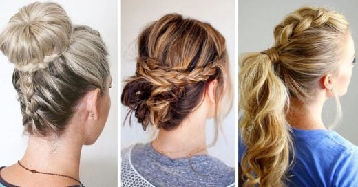 20 Hermosos peinados recogidos para cabello largo que te volverán loca