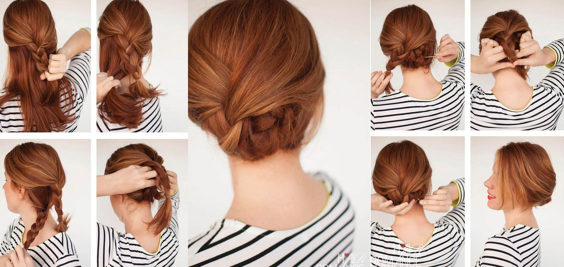 tutorial de peinados chica con un chongo bajo de trenza