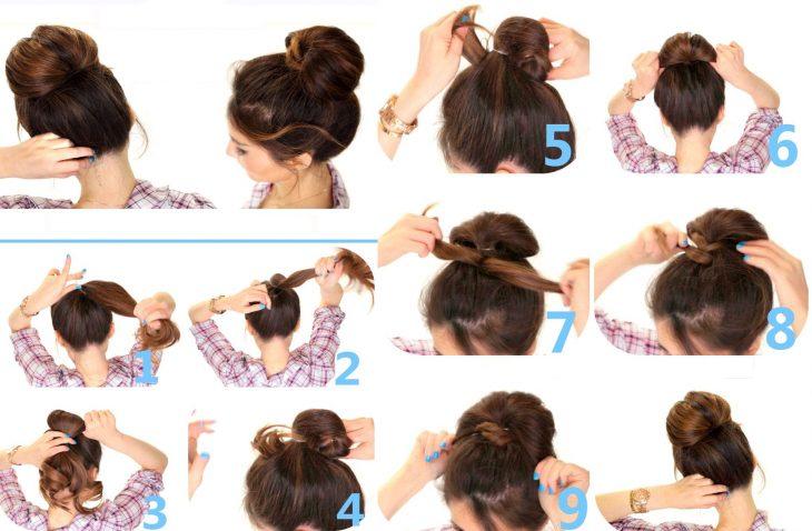 Tutorial de peinado para cabello largo con una bomba
