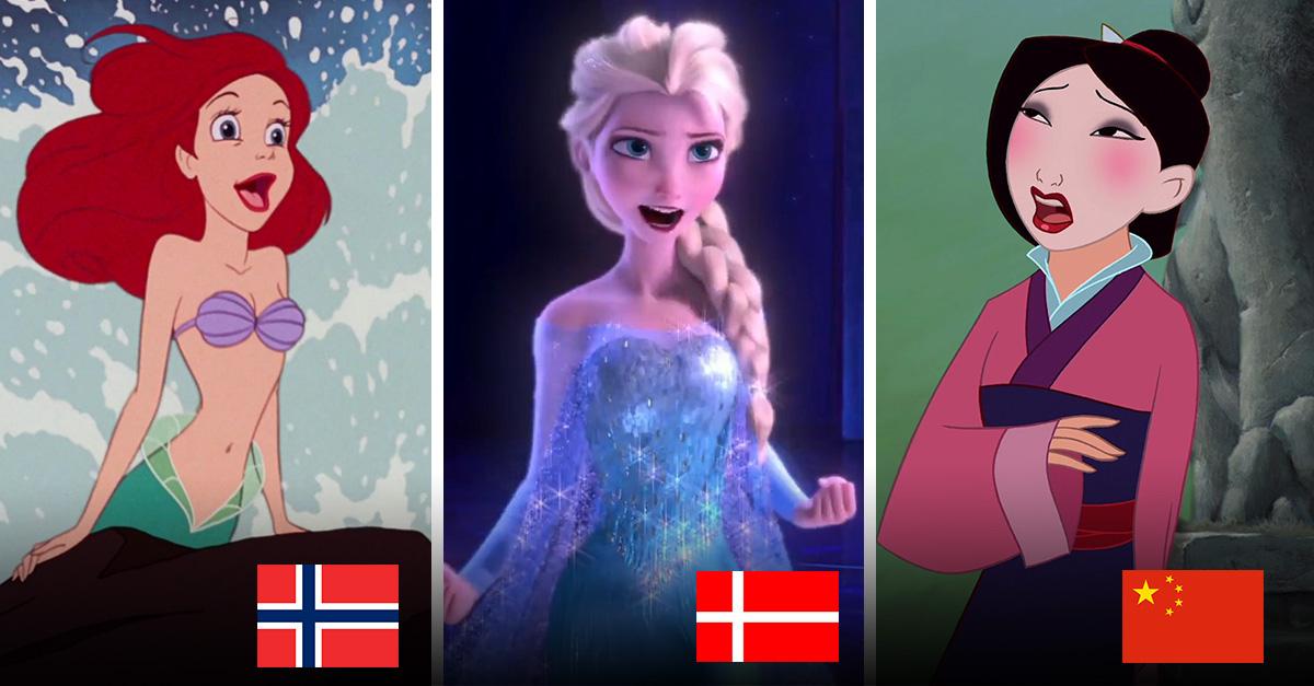 Princesas de Disney cantando en su lengua nativa