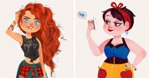 Así serian las princesas de Disney si vivieran en estos días