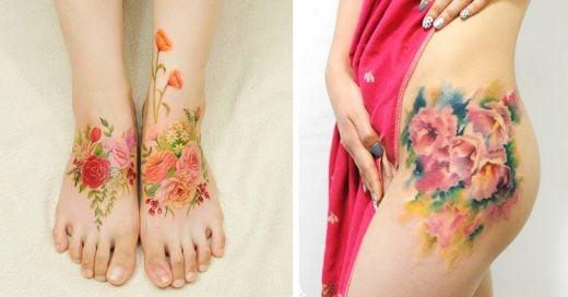 Tatuajes que lucen como acuarelas