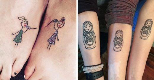 Ideas de pequeños y hermosos tatuajes para hermanas