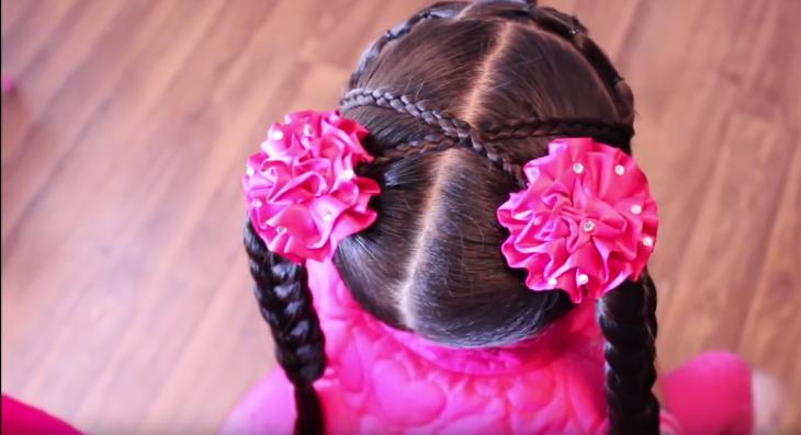 peinados para niña dos coletas moños y trenzas