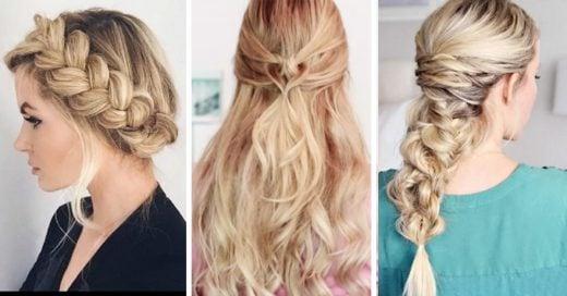 15 Tutoriales de peinados fáciles que te encantarán
