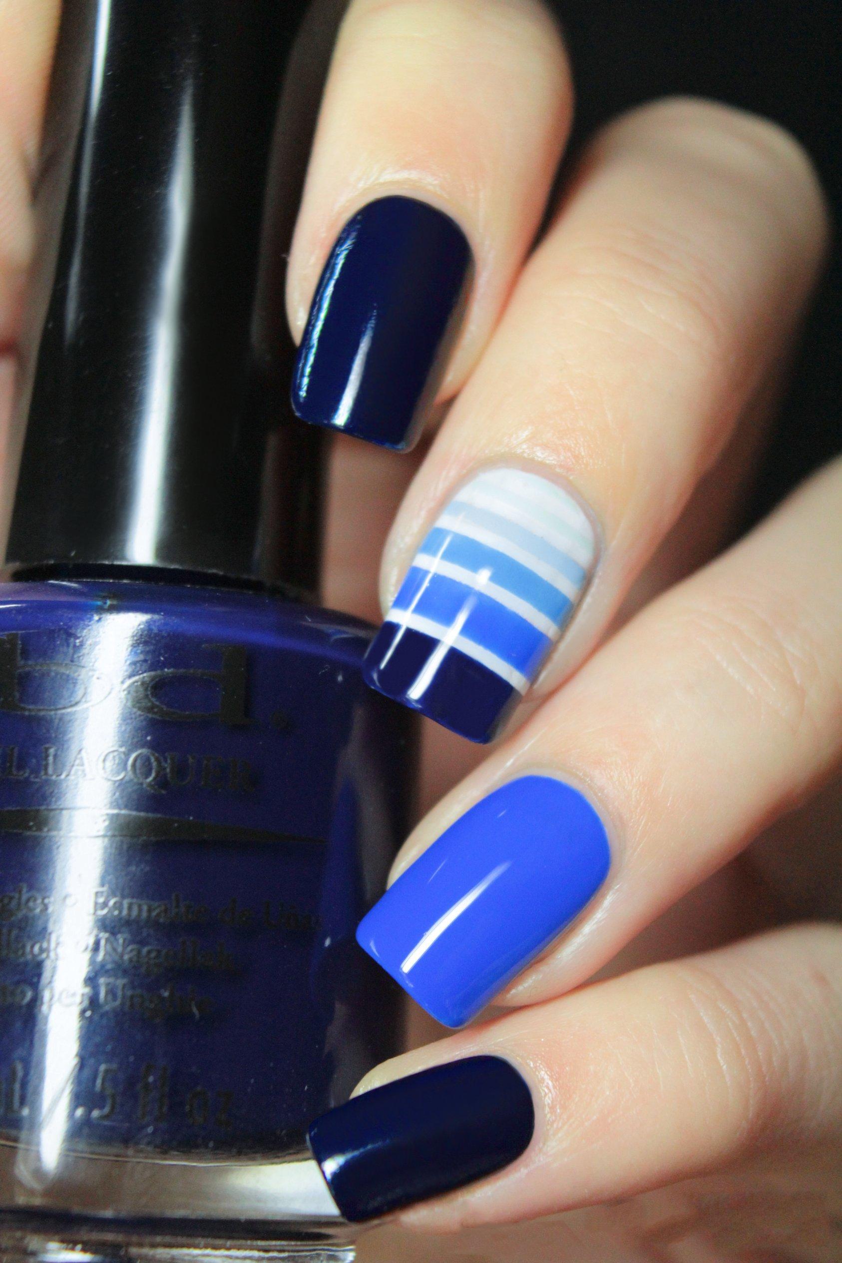 U Ef Bf Bdas Decoradas Color Azul