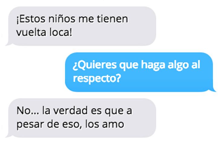 conversación de un mensaje de texto de un maestro