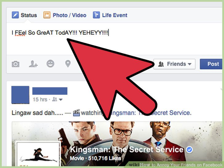 cosas molestas en facebook escribir mal