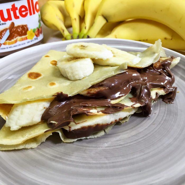 crepas de nutella con plátano