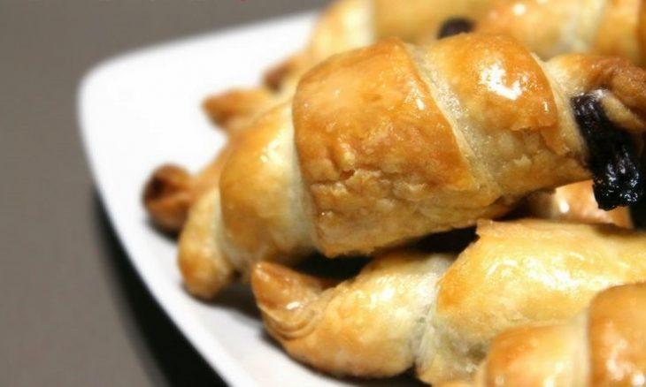 mini croissants con Nutella
