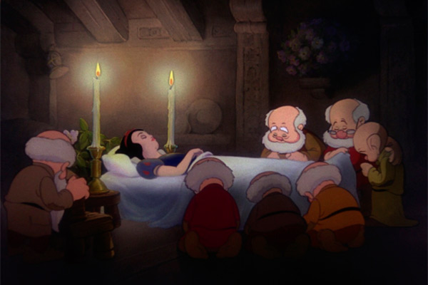 escena muerte de Blancanieves