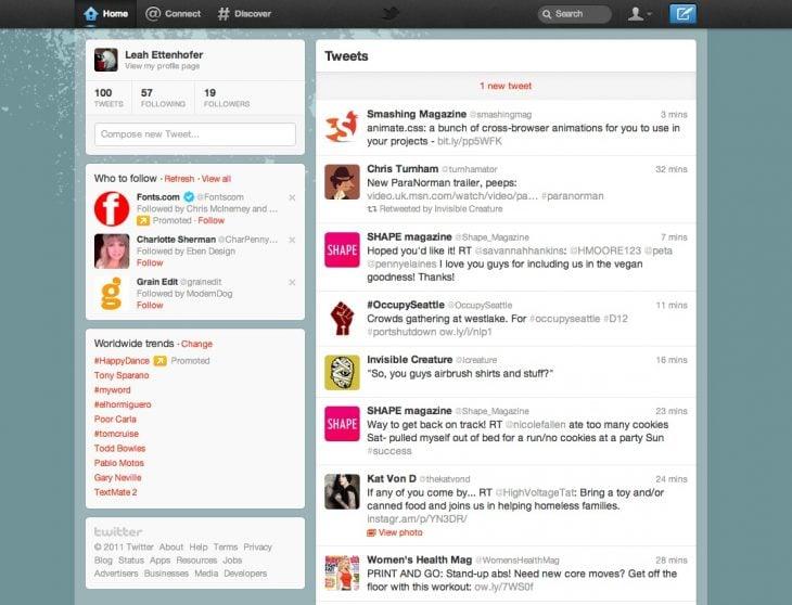 Twitte actualmente