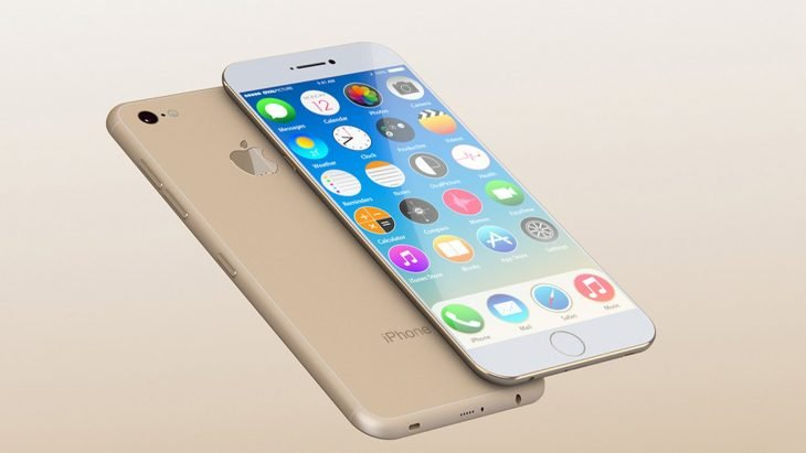 Celular iphone 6 en color dorado con blanco