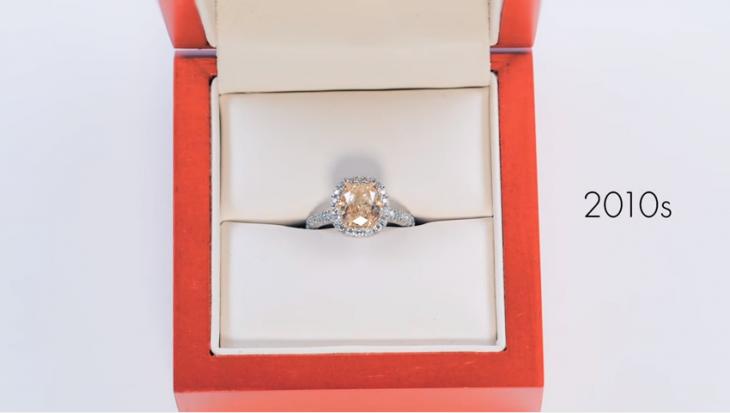 anillo de compromiso mode estilo 2010s