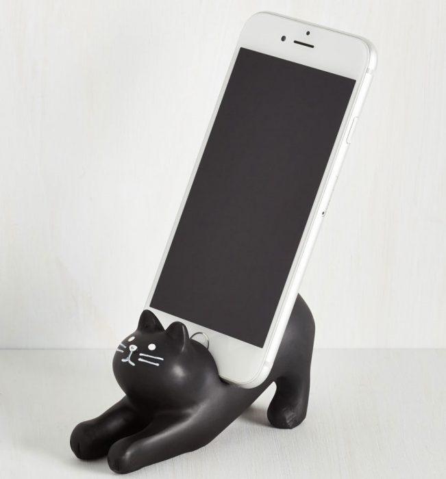 gato para soporte de celular