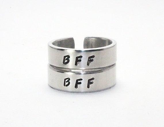 anillos plata mejores amigas