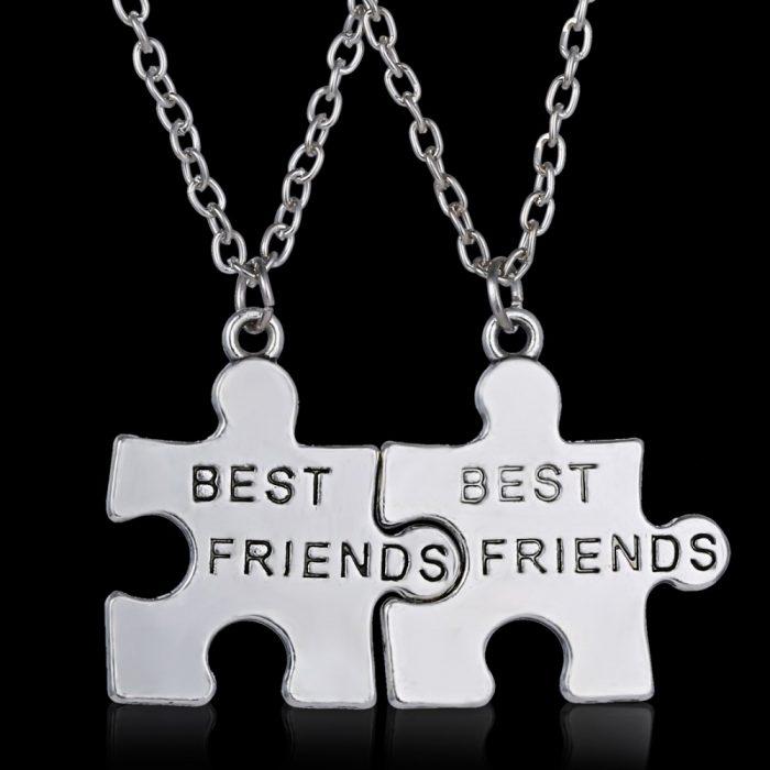 dije piezas rompecabezas mejores amigas