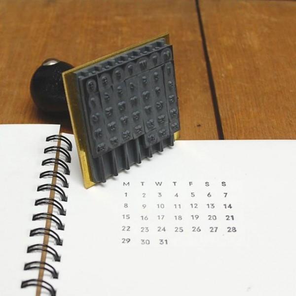 sello de calendario