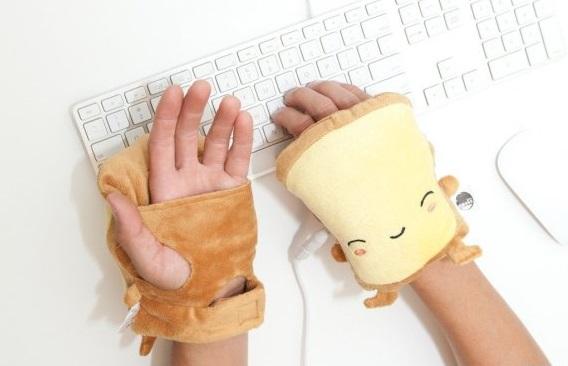 calentadores para manos en forma de sandwich