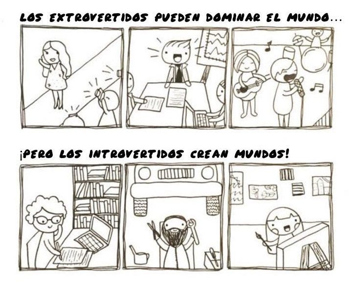 imagen extrovertidos vs introvertidos