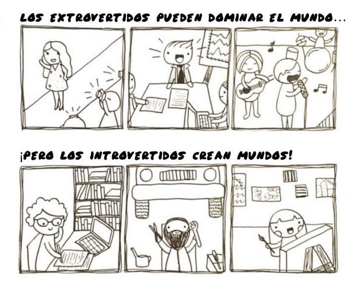 imagen extrovertidos vs introvertidos