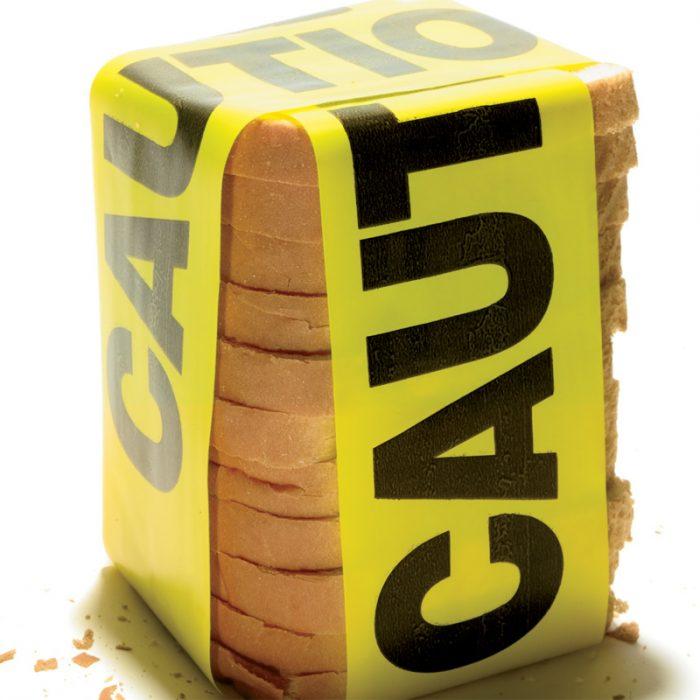 pan envuelto en cinta policiaca