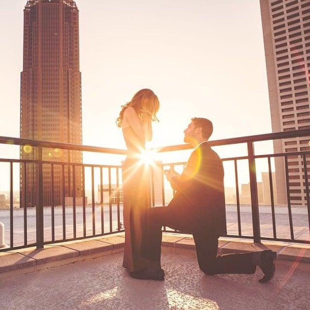 propuesta de matrimonio en una azotea