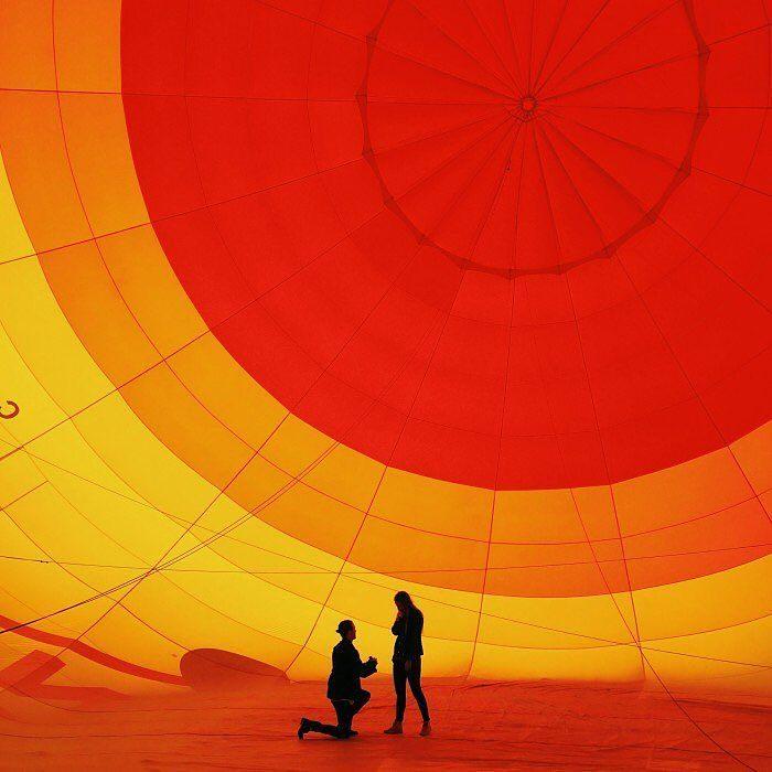 propuesta de matrimonio en un globo
