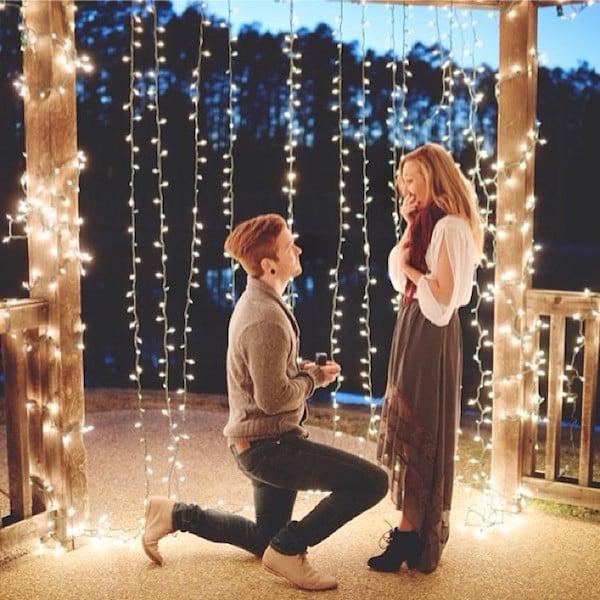 propuesta de matrimonio con luces