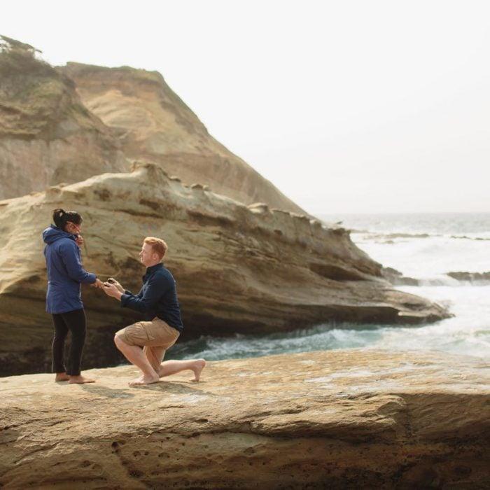 propuesta de matrimonio en la playa