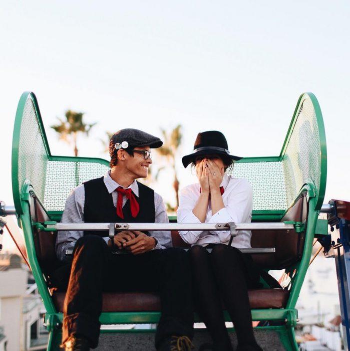 propuesta de matrimonio en juegos mecánicos