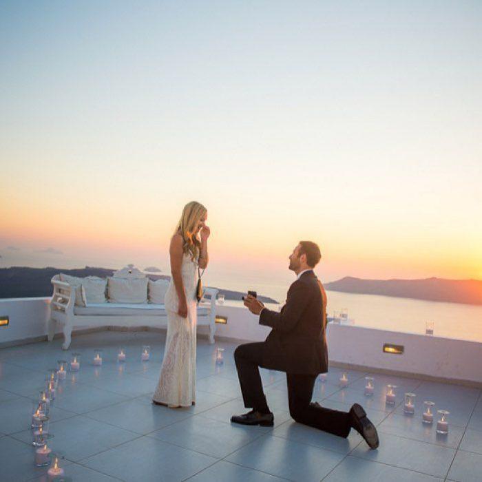 propuesta de matrimonio en el mar