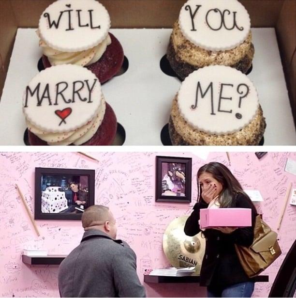 propuesta de matrimonio cupcakes