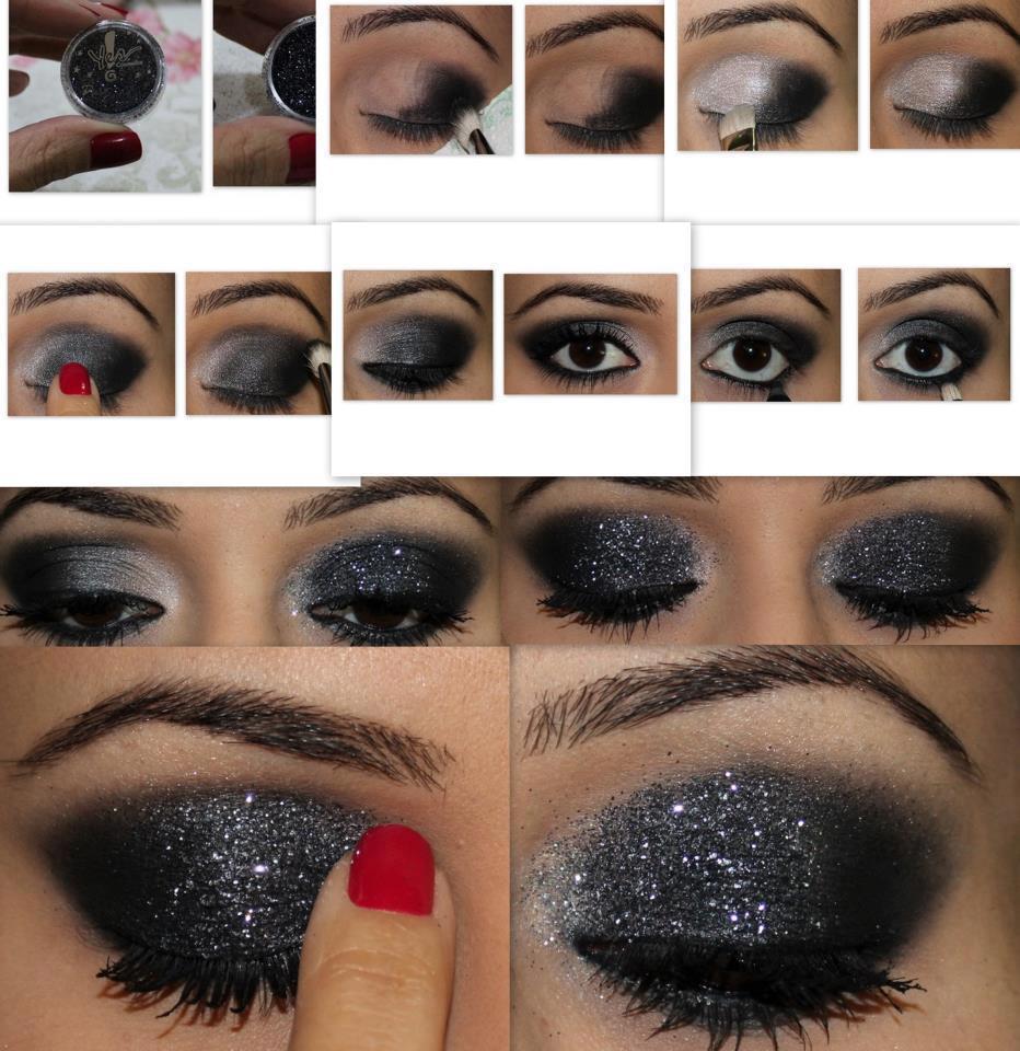 Maquillaje paso a paso como combinar maquillaje de ojo y el color - Usa Lipstick Transparente Para Pegar Brillo En Tus Ojos Tutoriales De Maquillaje